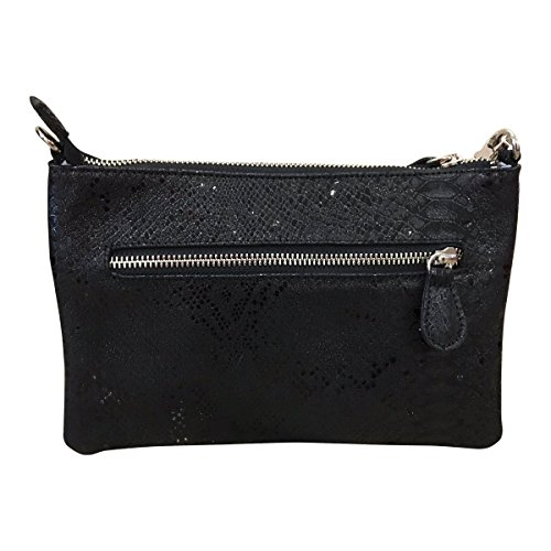 Women's Gaspy Colombian Cow Black 100 Liz Crossbody Leather Clutch Wristlet and Handmade Percent from Convertible fa5wSqa