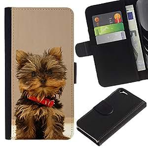 eJoy---La carpeta del tirón la caja de cuero de alta calidad de la PU Caso protector - Apple iPhone 6 - --Yorkshire Terrier Small Dog Puppy