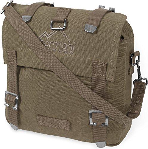BW Kampftasche klein Umhängetasche Canvas Bag in vielen Farben Farbe Beige