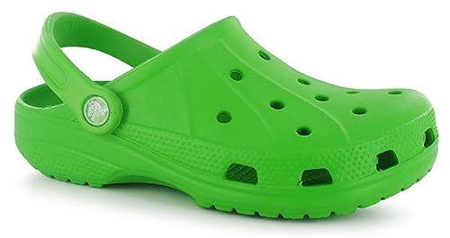 c1f982944ff Crocs - Sandalias de Vestir de Otro Material para Mujer Amarillo Verde Lima   Amazon.es  Zapatos y complementos