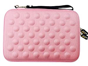 """AZ-Cover 7-Inch Tablet Semi-rigid EVA Bubble Foam Case (Pink) With Wrist Strap For Emerson EM756BL Android 7"""" 8 GB Tablet + One Capacitive Stylus Pen"""