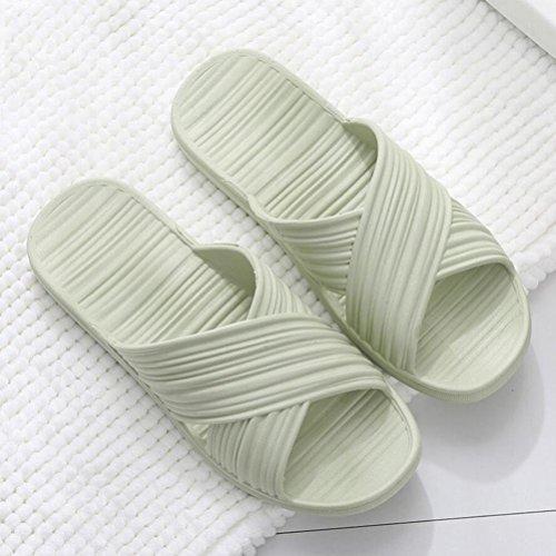 douche hommes femmes de pantoufles antidérapantes la sandale salle des et bains des avec de pied mode Les de massage de green de de 7Exzqn7w