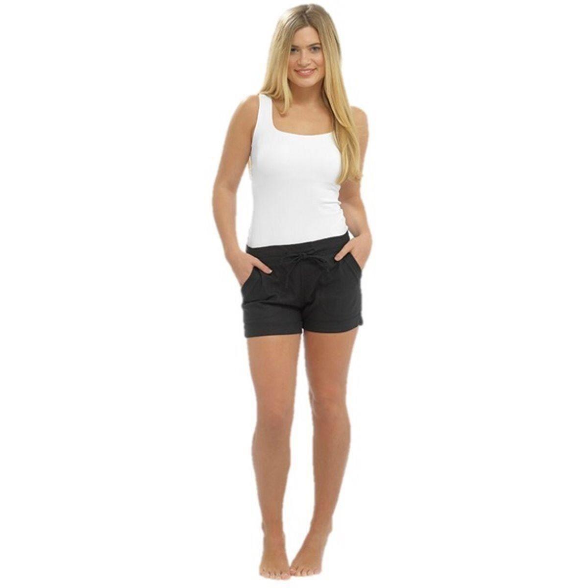 24c6be4491ea09 armona Ladies Girls Linen Shorts Beach Summer Holiday Pants at ...
