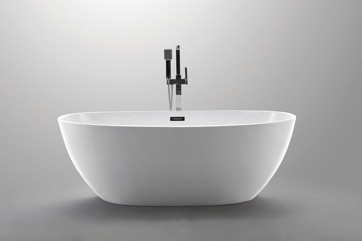 Luxury 67x34 Modern Contemporary Freestanding Acrylic Soaking Spa Bathtub - cUPC Certified