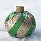 Brylanehome Medium Pre-Lit Outdoor Ornament (Gold Green,0)