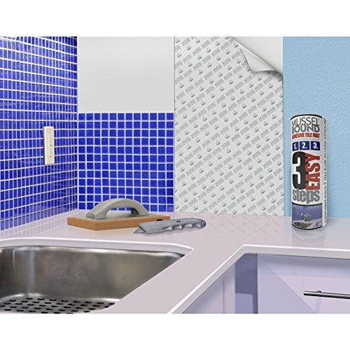 MusselBound 15-sq ft White Plastic Tile Membrane Peel-Set-Grout No Mortar.