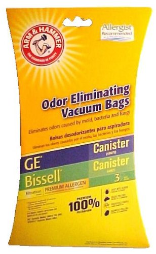 ARM & HAMMER ODER ELIMINATING VACUUM BAGS GE CANISTER (VC-396)