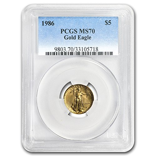 1986 1/10 oz Gold American Eagle MS-70 PCGS Gold MS-70 PCGS