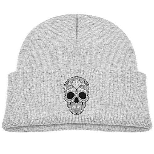 Infant Toddler Baby Kids Knitted Beanies Hat Skull Black & White Winter Hat Knitted Skull Cap for Boys Girls -