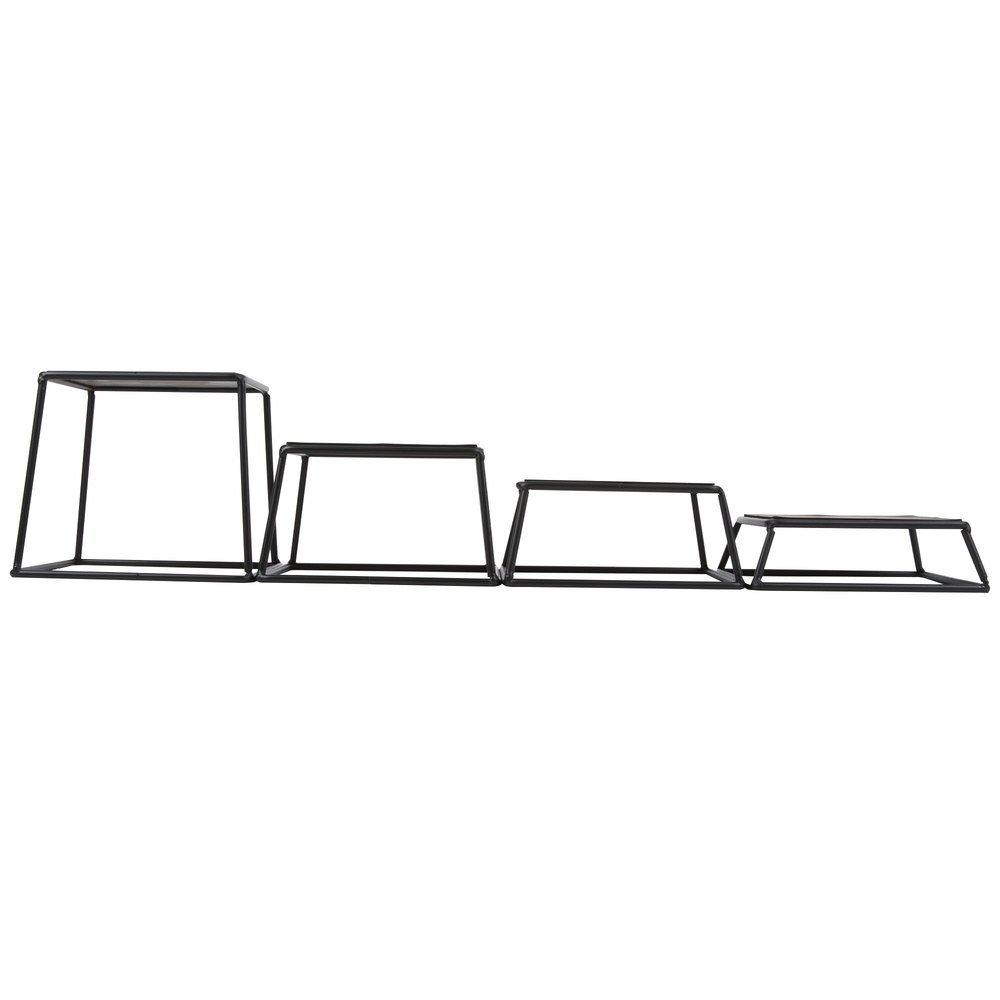 7 x 6 Tablecraft BKR4 Square 4-Piece Riser Set