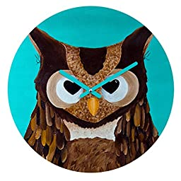DENY Designs Mandy Hazell,  Owl Love You , Round Clock, Round, 12\
