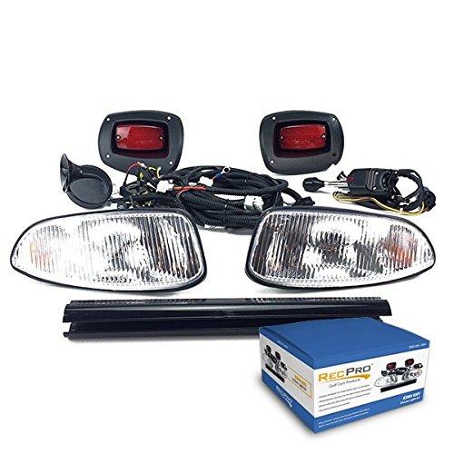 - RecPro EZGO RXV GOLF CART DELUXE STREET LEGAL HALOGEN LIGHT KIT w/ LED TAIL LIGHT 08-15