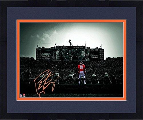 Framed Peyton Manning Denver Broncos Autographed 11