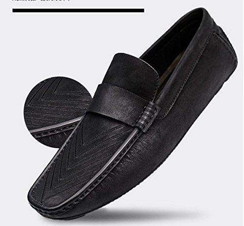 Happyshop Klassiska Företag Mens Skor Mockasin Komfort Slip-on Koskinn Driv Skor Loafers Svart