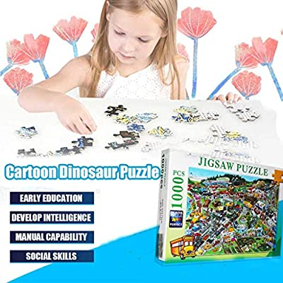 Ecurson 1000 Pieces of Paper Puzzle Scenery Beautiful Puzzle Busy City, Jigsaw Puzzles 1000 Pieces for Adults Kids Large Puzzle Game Toys Gift: Toys & Games