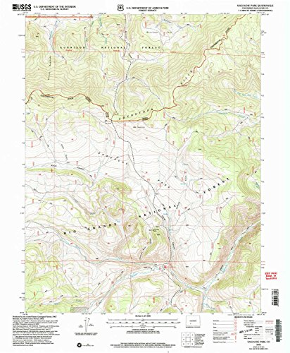 YellowMaps Saguache Park CO topo map, 1:24000 Scale, 7.5 X 7.5 Minute, Historical, 2001, Updated 2005, 26.8 x 22.1 in - Tyvek ()