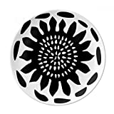 Sunflower Silhouette Celebrate Mexico Totems Dessert Plate Decorative Porcelain 8 inch Dinner Home