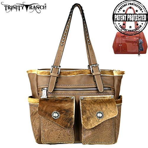 trinity-ranch-tooled-hair-on-leather-collection-concealed-handgun-tote-khaki