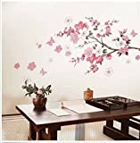 Butterfly Cherry Blossom Flower Tree Branch Wall decals decor kids baby stickers by let go 1
