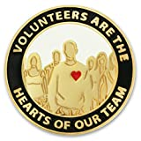 PinMart's Volunteers Are Hearts of the Team Enamel Lapel Pin