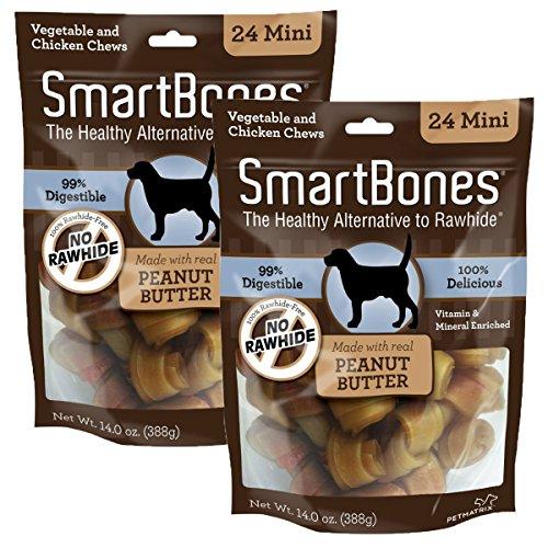 SmartBones Mini Peanut Butter 24oz Bags. 2pk.
