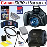 Canon Powershot SX30IS 14.1MP Digital Camera + 16GB Deluxe Accessory Kit
