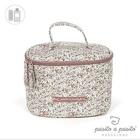 Pasito a Pasito Vanity Flores Botánica - Neceser, unisex, color rosa: Amazon.es: Bebé