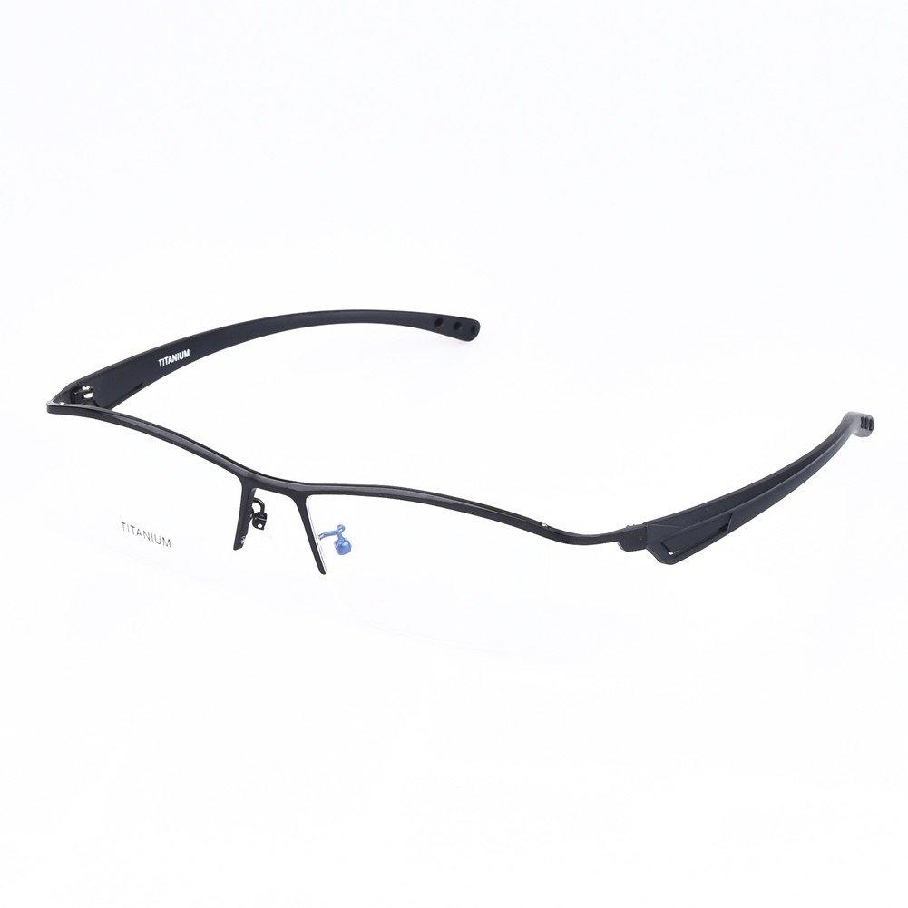 SO SMOOTH WIND TR90 Lightweight Eyeglasses men Business Glasses Large Size for Big Face Prescription Eyewear 8180 (Black color)