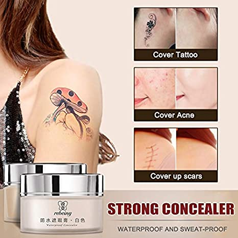 Alftek Tattoo Concealer - Crema de maquillaje para tatuajes (2 ...