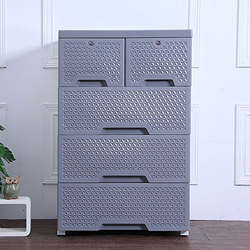 Movable Storage Cabinet,Multipurpose Furniture Organizer,Nafenai Home Bedroom Office 4-layers Storage Cart with 2 Cabinets ,Durable and Environmental-friendly by Nafenai (Image #4)