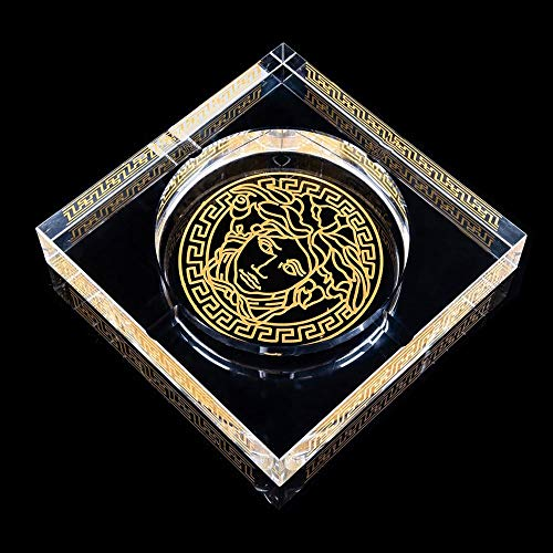 WHPHOME Heavy Crystal Ashtray - Square, Large Home Decor Office Cigar Ashtray (Size : L) by WHPHOME (Image #2)