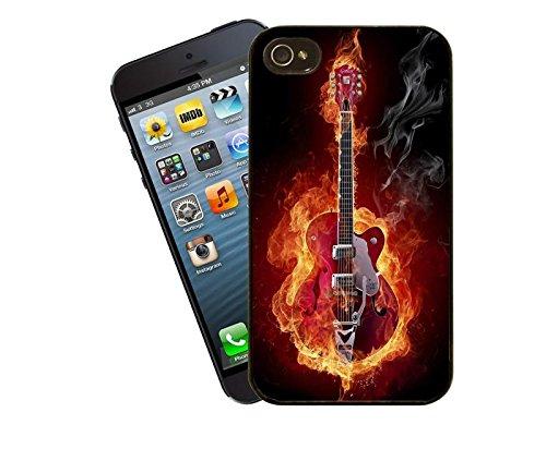 Gitarre auf Feuer iPhone Case - passen diese Abdeckung Apple Modell 5 und 5 s - von Eclipse-Geschenk-Ideen