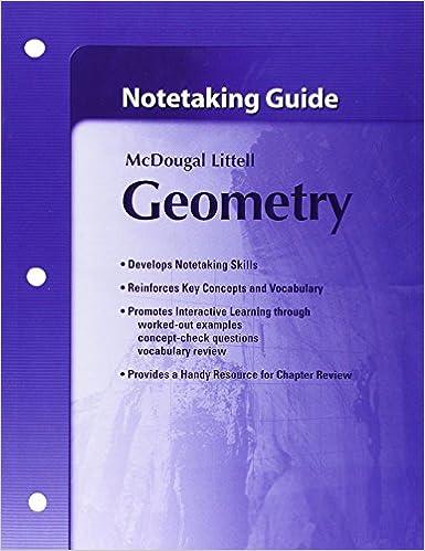Notetaking Guide Geometry 9780618736928