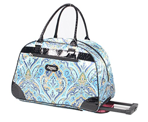 Kathy Van Zeeland Women's 22 Inch Printed Rolling Carry-On (One Size, Summer (Vans For Girls On Sale)