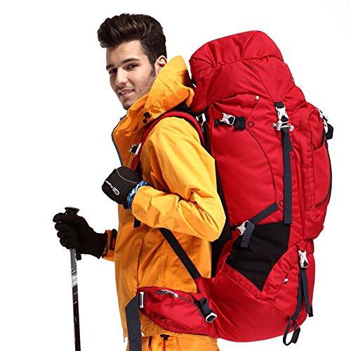 BUSL Morral del alpinismo de gran capacidad a prueba de agua bolsa de hombres y mujeres que montan al aire libre bolsa de viaje bolsa de viaje mochila 75L . a a