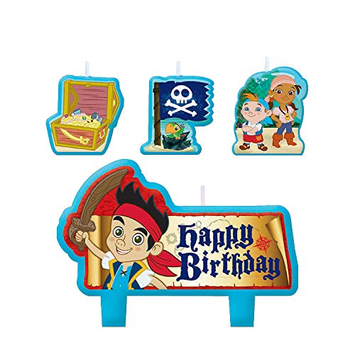 Jake Neverland Pirates Candle Set (4 pc) Birthday Party Supplies -