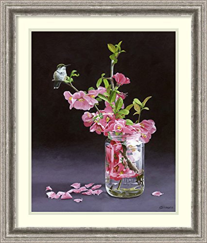 Framed Art Print 'Quince & Ruby I' by Fred Szatkowski (Rectangular Vase Ruby)