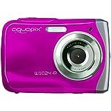 """Easypix W1024 - Cámara compacta de 10 Mp (pantalla de 2.4"""", zoom óptico 8x) color rosa (importado)"""