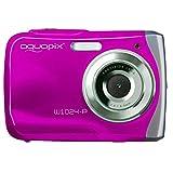 """Easypix W1024  Macchina fotografica di azione, 10MP (Full HD, 30 fps, AVI, LCD, 6.1 cm (2.4""""),  98g, CMOS), rosa"""
