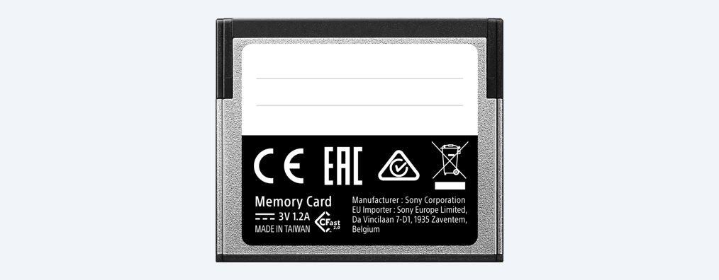 Sony Carte m/émoire Flash de 32/Go CFast 2.0/Professional