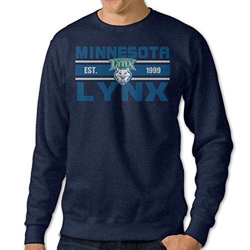 BestGifts Men's Minnesota Team Lynx Crew Neck Sweater Navy Size - Sunglasses Lynx