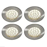 4 x 12V LED SPOTLIGHTS /DOWNLIGHTERS, CAMPERVAN, CARAVAN, MOTORHOME LIGHTING