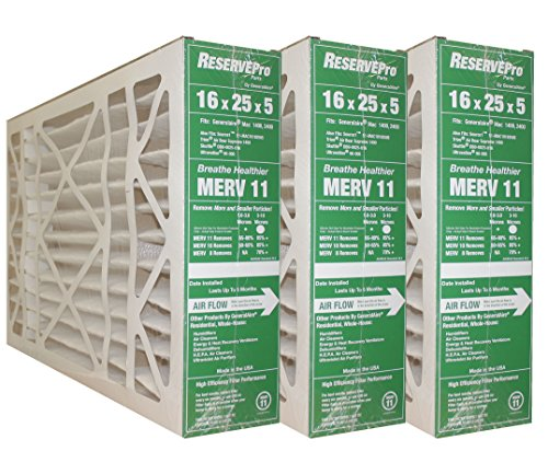 (GeneralAire # 4541 MERV 11 for # GF 4511 ReservePro 16x25x5 furnace filter, Actual Size:15 5/8