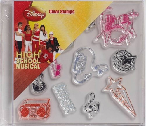 Plaid Clear Stamps in Case, 912-77 High School Musical Musical Icons -