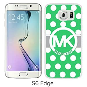 Great Quality M-K Samsung Galaxy S6 Edge Case ,Newest M-K 62 White Samsung Galaxy S6 Edge Cover Case Unique And Beautiful Designed Phone Case
