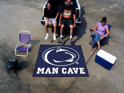 Penn State Man Cave Tailgater Rug 5x6 - Licensed Penn State Nittany Lions (Penn State Tailgater Rug)