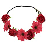 Rose Flower Headband Floral Crown Wreath Garland Halo