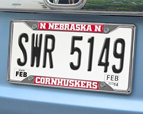 - FANMATS NCAA University of Nebraska Cornhuskers Chrome License Plate Frame