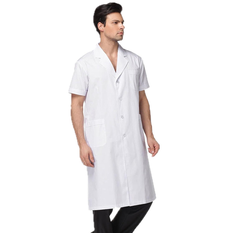 XINFU SHIRT ユニセックスアダルト B07CDDJ6H4 Men White Long Coat CN Size:XL(US Size:M)