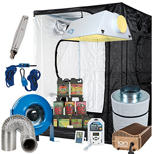 Complete 5 x 5 Grow Tent Package w/ 1000W Sealed HPS HID, Filter, Fan and more! (Sunleaves Inline Fan compare prices)